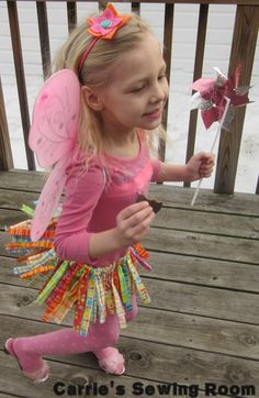 Scrappy Fabric Girls Tutu and Matching by CarriesSewingRoom