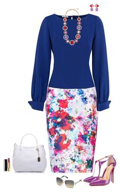 """""""Floral and colorful skirt"""" by julietajj on Polyvore"""