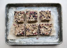 wild blueberry + pomegranate oatmeal breakfast bars - what's cooking good looking - a healthy, seasonal, tasty food and recipe journal