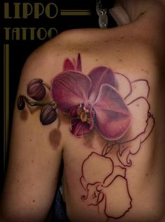 Orchid Tattoo in progress by Lippo Tattoo in Frosinone, Italy