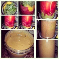 #nutribullet #strawberry #pineapple #mango #kale #flaxseed #perrier #yum #delicious #teamhealthy #nutriblast