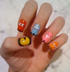 pacman nail design