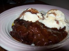 I so miss Cracker Barrel's cholcolate cobbler! Now I can have it anytime I want!!