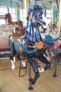 New Carved Jumper 2002 Kaparich Carousel at Fort Edmonton Park, Edmonton, AB © Jean Bennett September 16, 2010
