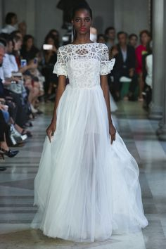 Carolina Herrera - SS 2017... Beautiful. Recreate to fit your style. Select fabric & embellishments that fit the wedding theme.