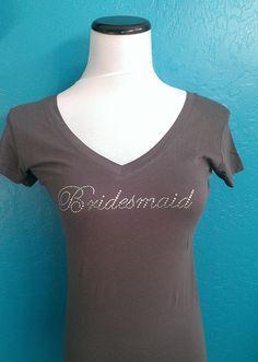 Bridesmaid V-Neck T-Shirt