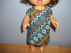 Baby 12 inch Alive doll handmade dress blue with colorful flowers on it by sue18inchdollclothes on Etsy
