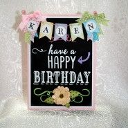 Chalkboard birthday card made using Cricut Chalkboard Fonts cartridge. Chalkboard Vinyl, Chalkboard Lettering, Chalkboard Ideas, Cricut Birthday Cards, Cricut Cards, Card Making Inspiration, Making Ideas, Happy Birthday Chalkboard, Pretty Cards