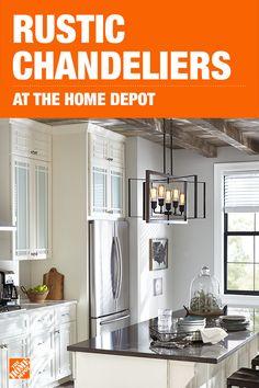 Industrial   Chandeliers   Lighting   The Home Depot