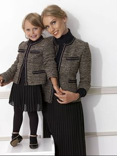 Mum and daughter - same outfit
