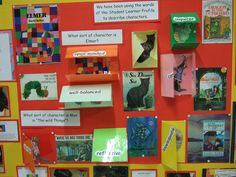 bulletin board about books and authors. Might be cool character board on a specific play Library Displays, Classroom Displays, Classroom Organization, Reading Bulletin Boards, Classroom Bulletin Boards, Teachers Aide, Teacher Tools, Reading Display, Cycle 2