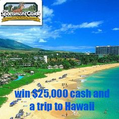 Enter the Sportsman's Guide's Guide Outdoors Network Sweepstakes 2012 for your chance to win the Grand Prize: A $25,000 check and a six-night trip for two to Hawaii. The trip includes airfare to Honolulu and hotel. (ARV: $30,800) Or, get one of 12 Monthly Prizes (1 per month): a $100 gift certificate for the Sportsman's
