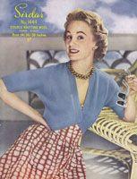 vintage 1950s sirdar bolero knitting pattern