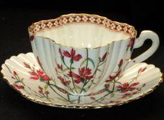 Shelley Wileman Fuchsia Carmine Alexandra Tea Cup and Saucer Tea Cup Set, My Cup Of Tea, Tea Cup Saucer, Tea Sets, Antique Tea Cups, Vintage Cups, Vintage China, Teapots And Cups, Teacups