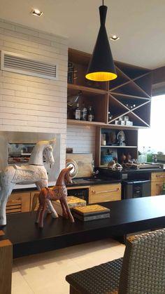 Varanda gourmet para apartamento na Barra da Tijuca.:   por Lucio Nocito Arquitetura e Design de Interiores