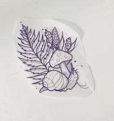 Mushroom and snail Mushroom and snail Thai Tattoo, 1 Tattoo, Tattoo Outline, Piercing Tattoo, Tattoo Drawings, Piercings, Cute Tattoos, Beautiful Tattoos, Body Art Tattoos