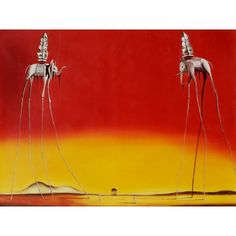Dali - The Elephants Oil Painting for sale on overArts.com