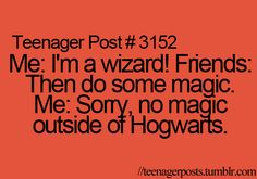 Seriously people just don't understand wizarding laws.