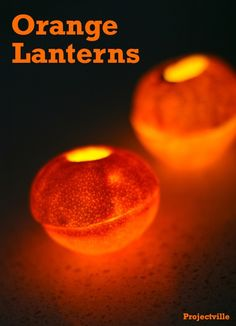 Projectville: DIY, Vintage, Art, and Style: DIY Orange Lanterns