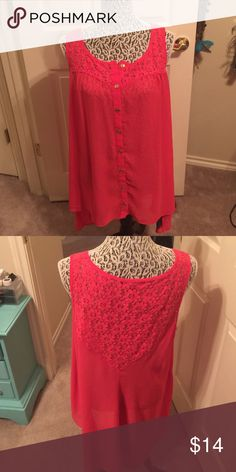 Deep Melon tunic Gorgeous color, worn once. Great with a cardigan over it in winter! Forever 21 Tops Tunics