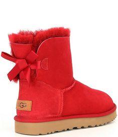 Cute Uggs, Cute Boots, Suede Heels, Leather Heels, Red Ugg Boots, Mini Baileys, Cute Sleepwear, Bailey Bow