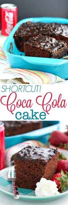 It tastes like you made it from scratch, but with help from a box of cake mix you can prepare this Shortcut Coca Cola Cake in only 10 minutes!  The moist and fluffy chocolate cake is covered in a homemade fudgy Coca Cola and pecan frosting that makes this dessert perfect for any celebration, potluck, or family gathering!
