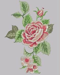 6 Matrizes De Bordados Florais Rosas Tulipas