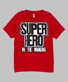 Red 'Superhero' Tee - Infant Toddler & Kids