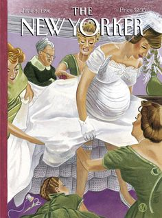 """The New Yorker - Monday, June 3, 1996 - Issue # 3708 - Vol. 72 - N° 14 - Cover """"Altared States"""" by M. Scott Miller"""