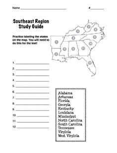 Image Result For United States Map Study Guide