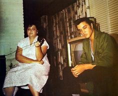 Gladys and Elvis - 1956 - Audubon Dr.