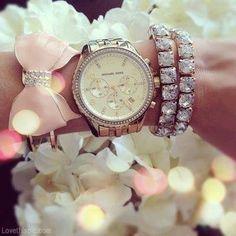 Girly Jewelry fashion girly jewelry bows diamonds michael kors