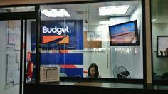 Cartelera Digital Corporativa de Budget en el Aeropuerto de Maiquetia #DigitalSignage #Venezuela @imvinet