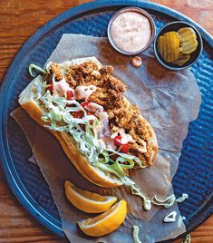 From Cornmeal-Crusted Oyster Mushroom Po' Boys to Strawberry Pop Tarts: Our Top 12 Vegan Recipes of the Day! - One Green PlanetOne Green Planet Poboy Sandwich Recipe, Vegan Sandwich Recipes, Vegan Breakfast Recipes, Delicious Vegan Recipes, Veggie Recipes, Vegan Sandwiches, Oyster Mushroom Recipe, Mushroom Recipes, Vegan Vegetarian