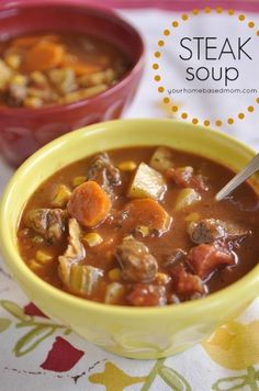 Steak Soup - your homebased mom. Tried this and loved it! Super hearty and flavorful! Best soup I've made ever!
