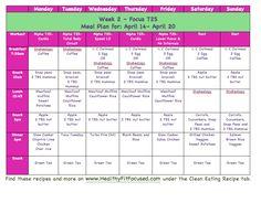 - Week 1 Women's Progress Update - Meal Plan for Week 2 For More meal plans and recipes: /HealthyFitFocused T25 Meal Plan, Meal Prep Plans, Clean Eating Meal Plan, Diet Plan Menu, Diet Plans, Vegan Nutrition, Nutrition Plans, Nutrition Tips, Nutrition Store