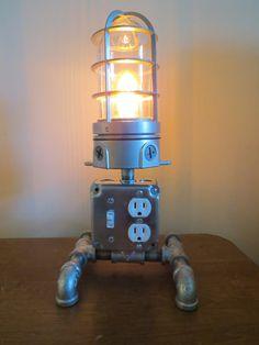Industrial desk lamp, charging station, loft light.
