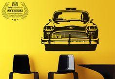 Vinilo decorativo Taxi Chequer del Nueva York de los años 50-70 #teleadhesivo #decoracion #taxi