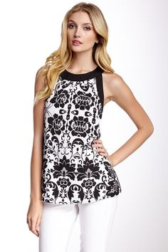 Sleeveless Print Front Blouse by Kensie on @HauteLook
