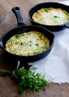 Herb omelette with brie