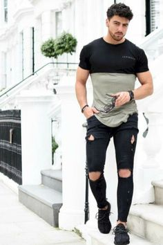 Stylish Ripped Jeans For Men 09