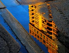 Street Puddle Reflection Photography