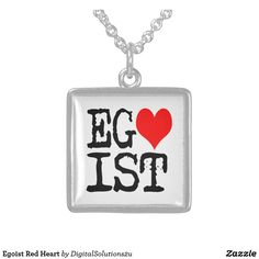 Egoist Red Heart Sterling Silver Necklace