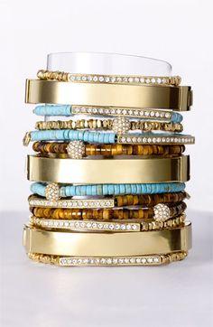 Michael Kors 'Sleek Exotics' Pavé Ball Stretch Bracelet   Nordstrom