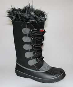 Another great find on #zulily! Transco Black & Gray Tall Duck Boot by Transco #zulilyfinds