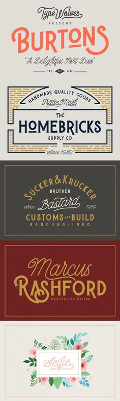 Burtons - Burtons is a retro styled display font, designed and published by Typewolves.