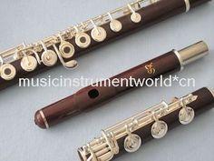 Rose Wood Flute Silver Plated Keys B Foot Open Hole Split E Offset G