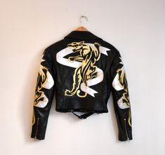 Vintage Black Leather Motorcycle Jacket by North by Hookedonhoney, $375.00 #leatherjackets #leatherjacket #vintage