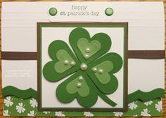 St. Patrick's Day cards made from cricut | handmade St Patrick's Day card from Keenan Kreations: Go Green ...