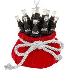 Coca-Cola Bottles in Red Velvet Bag Ornament Coca Cola Pictures, Coca Cola Merchandise, Coca Cola Store, Best Soda, Coca Cola Decor, Vintage Coke, Vintage Signs, Coke Machine, Coca Cola Christmas